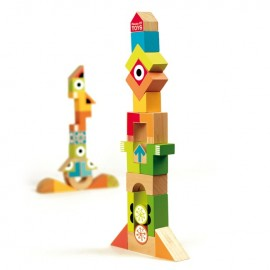36 Wooden Blocks with Tangram & Stickers