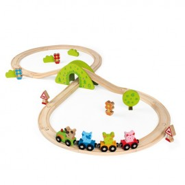 Scratchy's Wooden Train Set