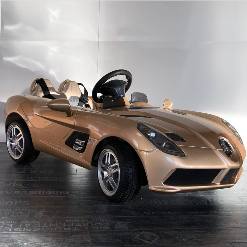 voiture lectrique pour enfant mercedes slr 12v champagne. Black Bedroom Furniture Sets. Home Design Ideas