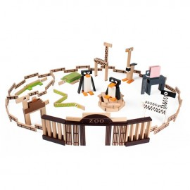 PILOS Zoo 200 Wooden Blocks